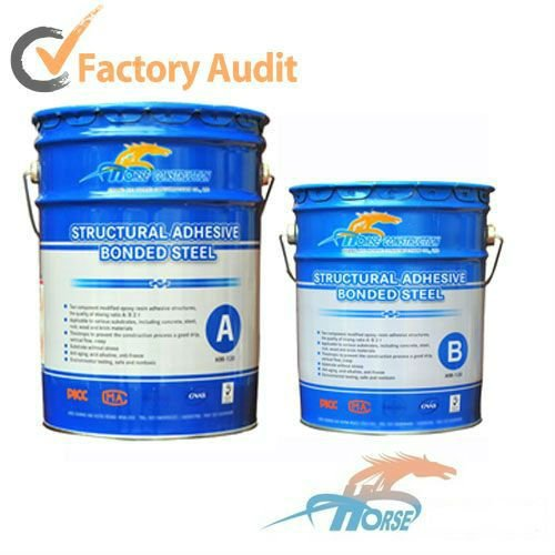 HM steel bonded epoxy resin with low moisture sensitivity