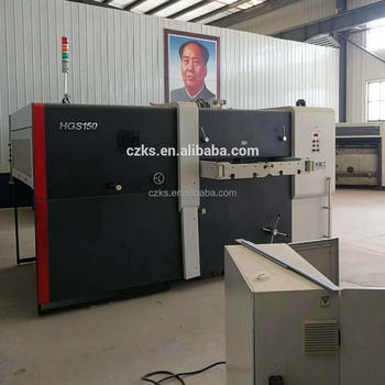 used second hand flatbed die cutting machine