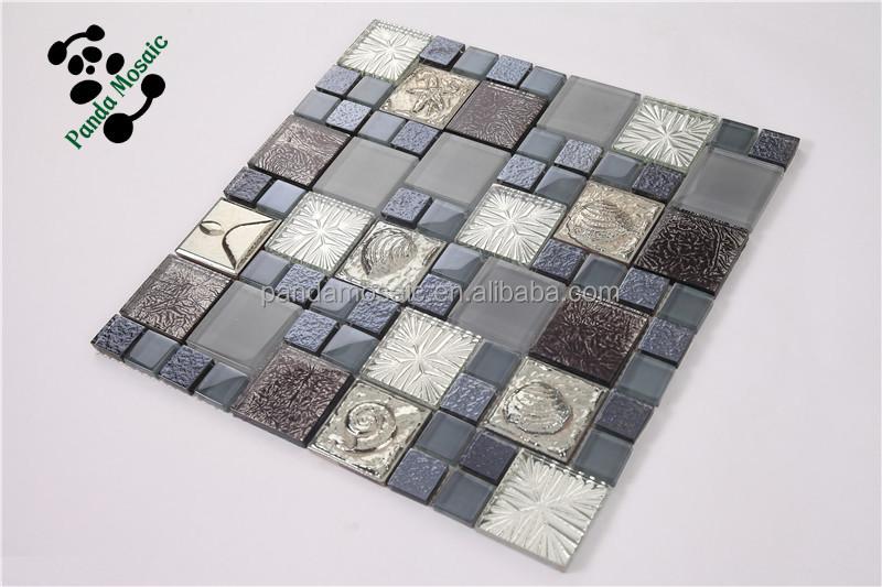 Smp19 wallpaper mosaic kitchen tile 3d marble mosaic tiles for Kitchen 3d wallpaper