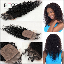 7A Best Curly Silk Base Closure 100% Brazilian Virgin Human Hair Silk Top Closure Free Middle 3 Part Silk Closure Bleached Knots