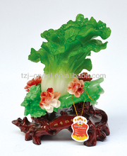 Resin Imitated Jade Carving Chinese Cabbage Decoration Gift