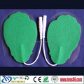 Leaf-shape reusable TENS electrodes/colorful electrode pads hotsale competitive price wholesale!