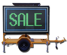 LED sign trailer solar traffic VMS truck advertising led display WIFI scrolling outdoor double sided led sign 2016 new product