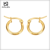 Wholesale jewelry $0.58 per pair gold plated earrings designs for girls