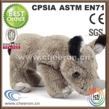 Lifelike stuffed friendly plush lifelike rhino cheap price