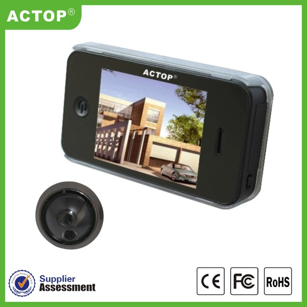 China 2014 actop 3.5 inch TFT LCD screen Night vision wide angle Photo shooting doorbell peephole door viewer