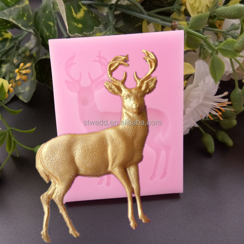 Eco-friendly Deer Shape Cake Baking Mold, Silicon Cake Molds