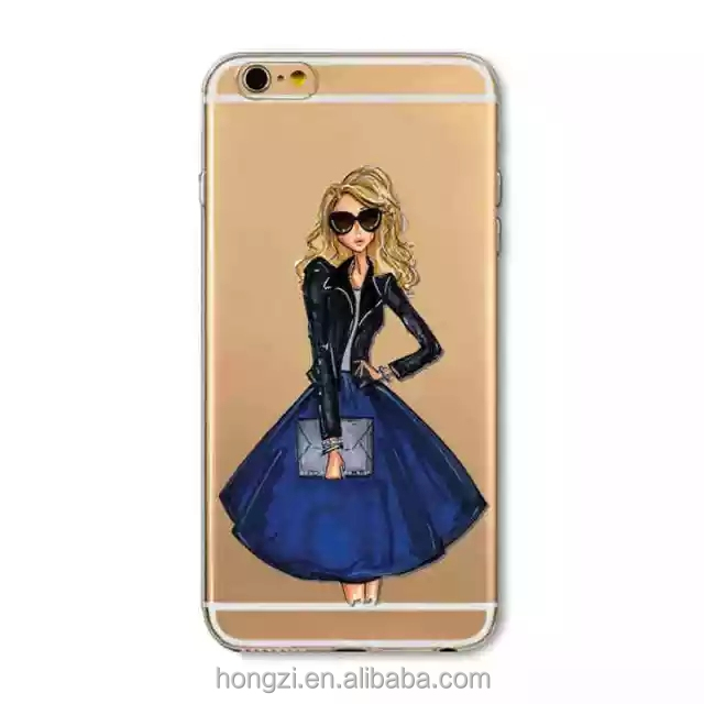 Sexy girl fashionable woman PC scale Case Cover for iphone 7 7plus Design custom