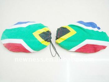car mirror flag for South Africa