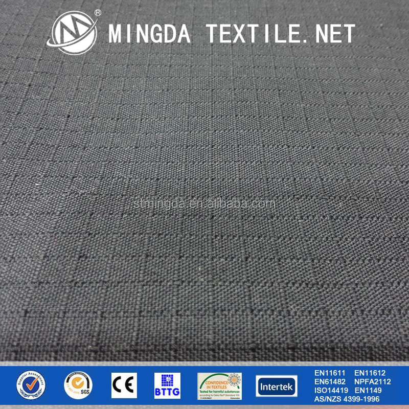 water and oil repelent hot sale flame retardant meta aramid para aramid anti-static rip stop iiia fabric for firefighting suits