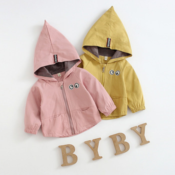 Spring Fleece Jackets For Girl Trench Children Clothing Hooded Warm Outerwear Windbreaker Baby Kids Coats
