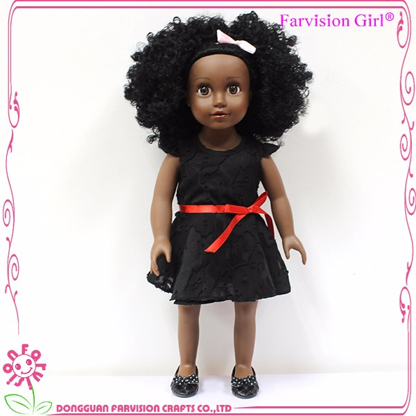 HOT afro hair vinyl american girl 18 inch doll wholesale black dolls