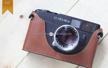 Handmade Band hot sale genuine leather camera cover bag