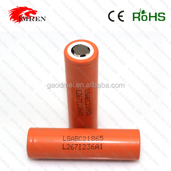 Hottest new e cig battery big mechanical mod 18650 battery orange LG 18650 C2 2800mah 3.7V battery
