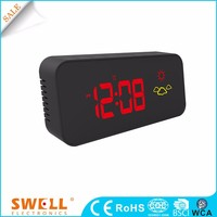hot sale led light calendar clock , battery operate red led clock