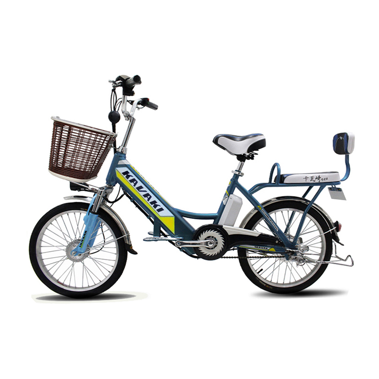 Lithium battery 250w motor electric bike 2 seats ebike green <strong>city</strong> with basket