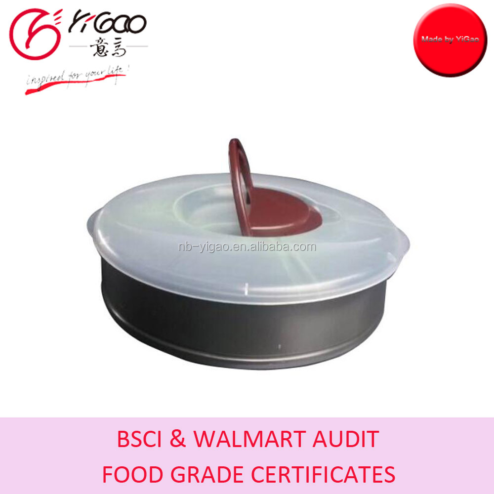 high quality metal baking pans with plastic cover german used springform pans with lid