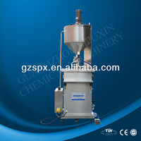 SPX Standing Pneumatic Cosmetic Cream Heating Mixing Filling Machine For Small Business