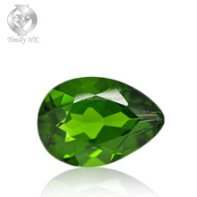 Pear Shaped Russia Diopside Beautiful Good Clean Quality Natural Chrome Diopside