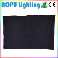 China supplier customize led starlight curtain nightclub backdrop