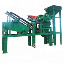 Fully automatic rock crushed station,portable small rock stone crushing plant