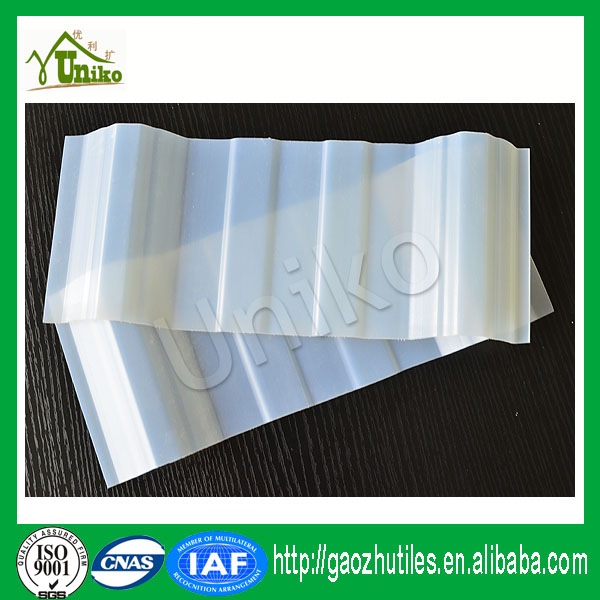 anti corrosive durable 10years guarantee clear upvc roof tile for factory skylight