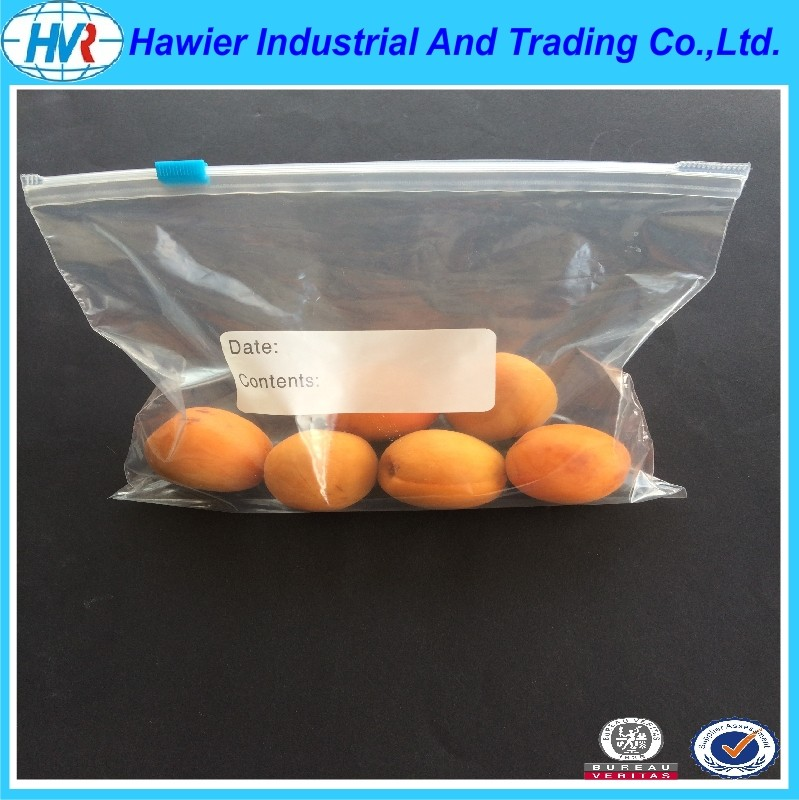 PE zipper bags plastic packaging bags from Weifang hawier
