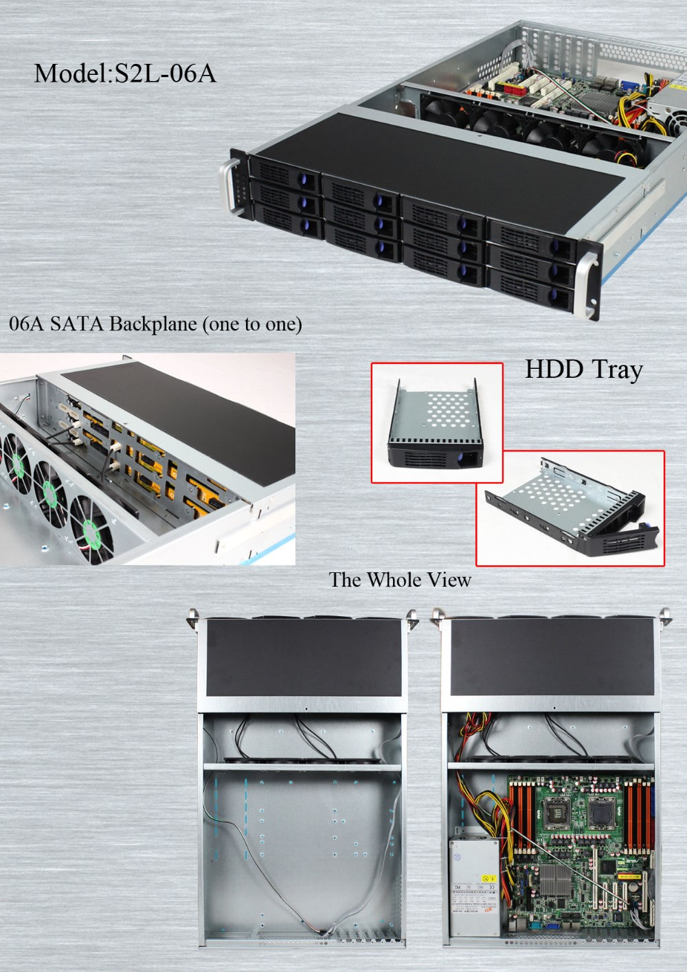 2U 12bays Hot Swap storage rackmount chassis Server Case Hot sale