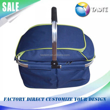 Factory Direct Aluminium Baskets 4 Persons Foldable Insulated Picnic Cooler Bag