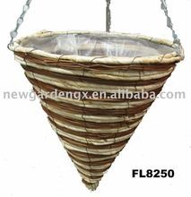 14 inch plant fiber cone hanging basket wholesale