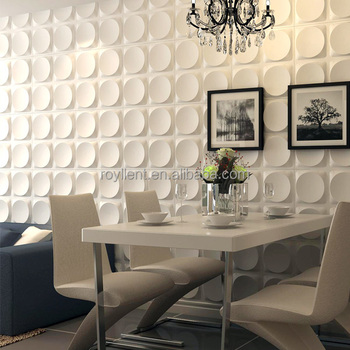 Royllent interior decorative 3d pvc wall panel DIY 3D Wall Decor Material