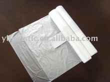 HDPE plastic clear flat bags on roll ,food grade