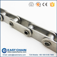 A series double pitch 38.1mm 304 stainless steel hollow pin roller chain C2060HP