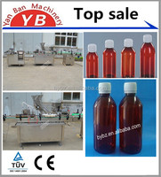 Glass bottle syrup filling and capping machine , Small Glass bottle automatic Medicine syrup filling capping machine