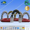 Theme park inflatable go kart track, race track