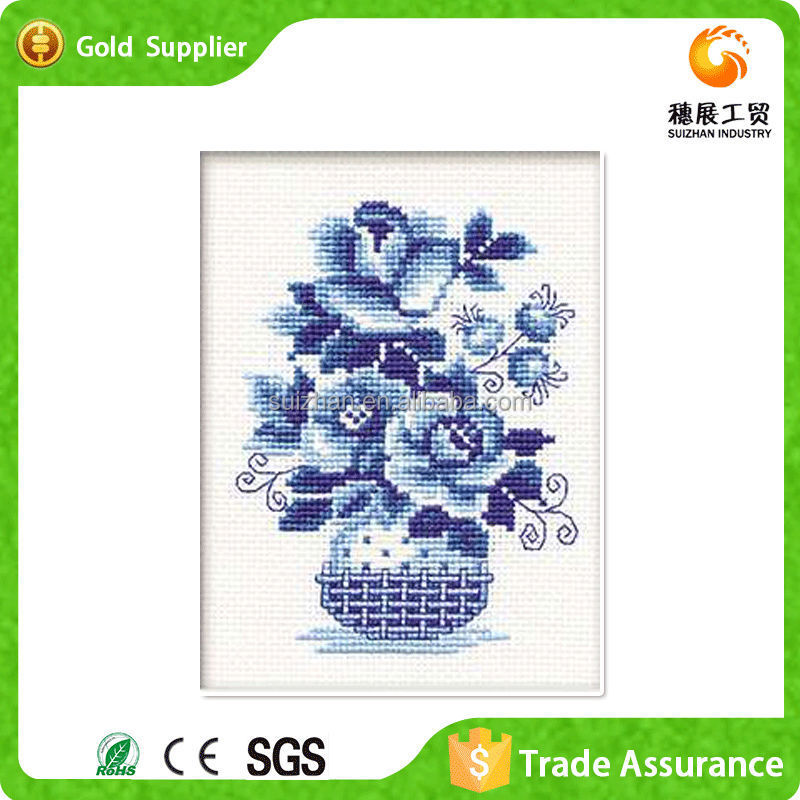 Yiwu manufacture canvas room decoration 3d diy diamond oil painting pictures of flowers