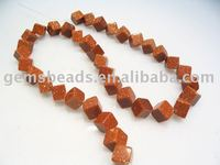 Goldstone diagonal cube beads factory