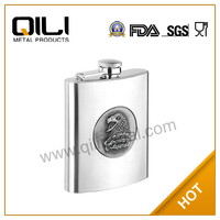 Stainless Steel Eagle Hip Flask