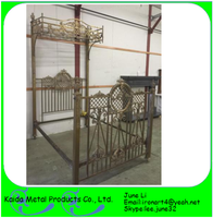 latest double bed designs wrought iron craft by handwork