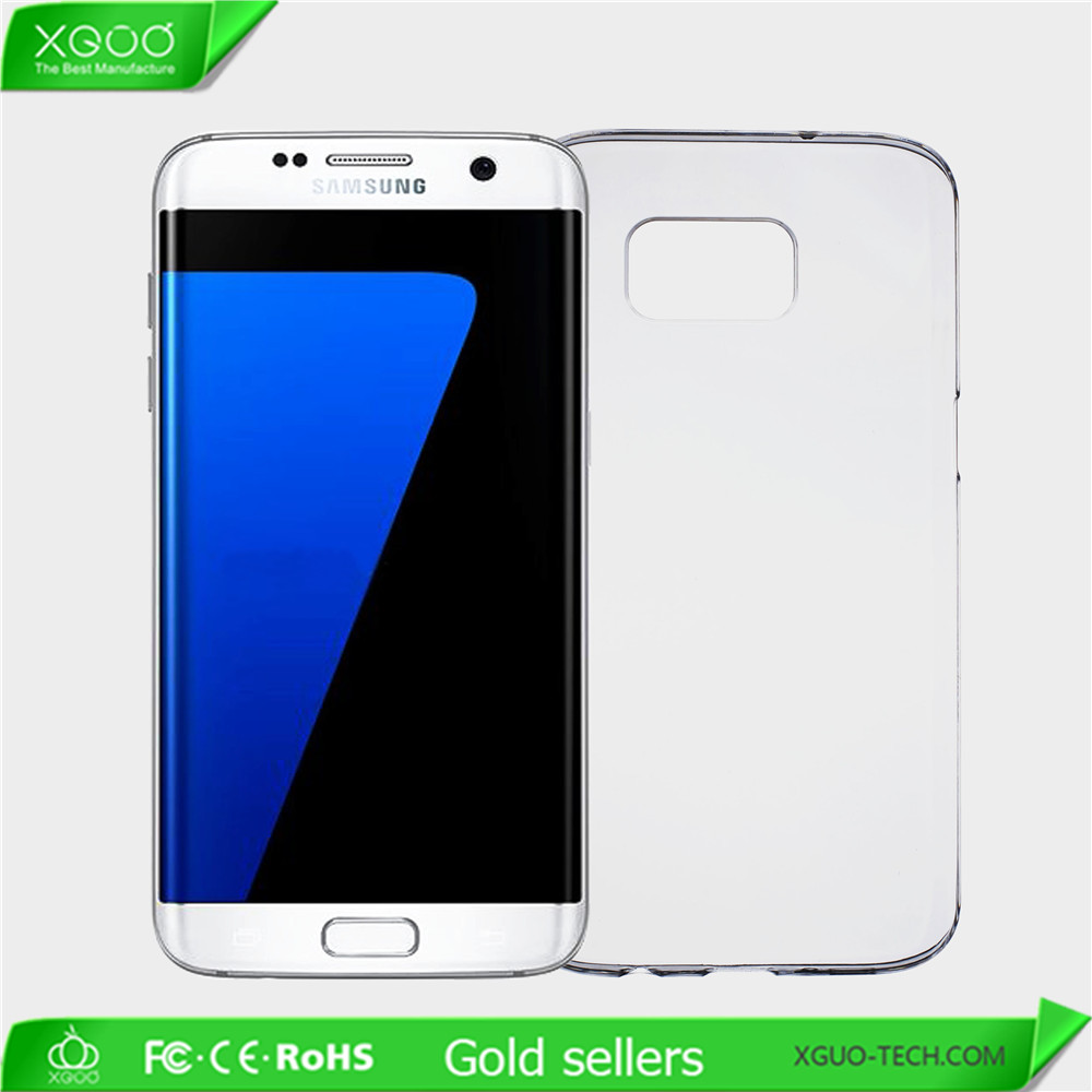 Clear mobile phone case for Samsung Galaxy S7 edge