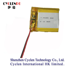 3.7v 250mah 450mah li-polymer battery for vehicle traveling data recorder