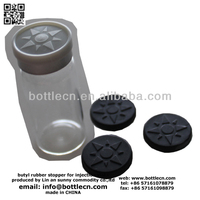 butyl rubber stopper for pharmaceutical injection glass vials 10ml bottles clear and flip caps
