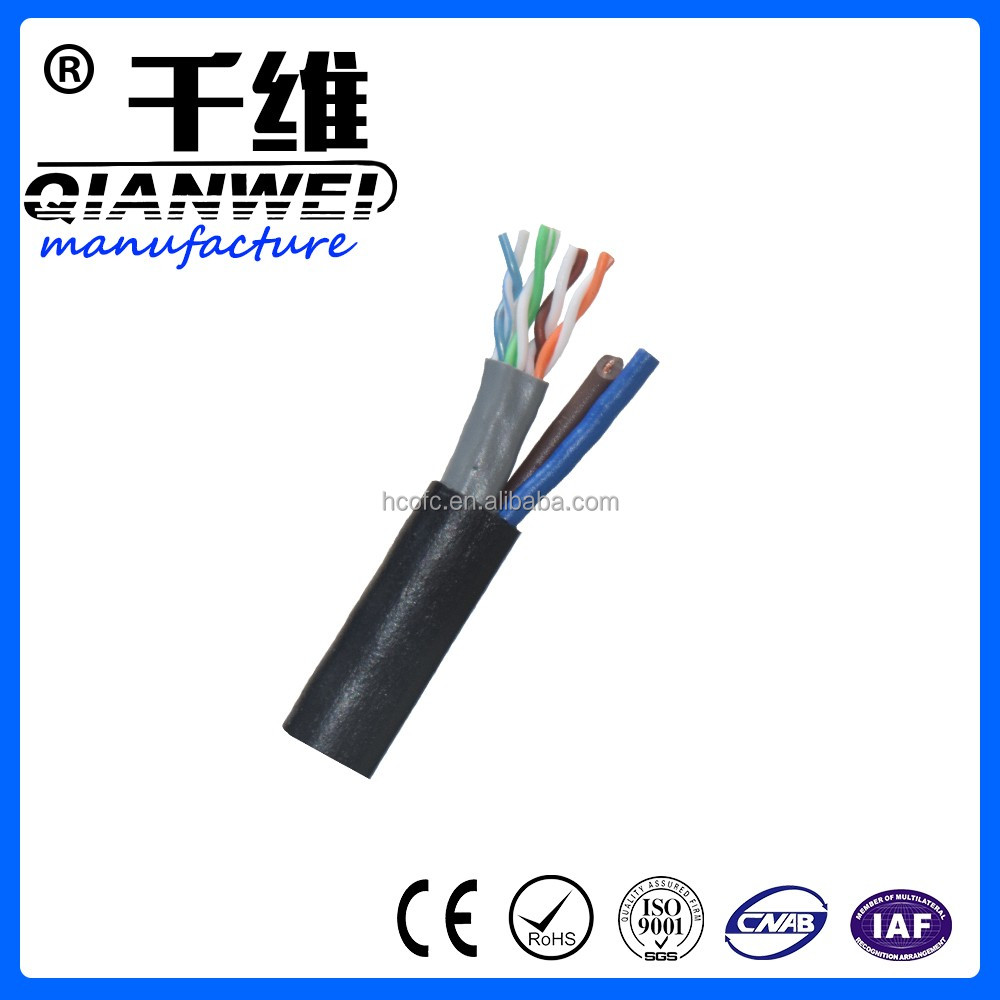 USA market hot sales network cable 305 meters each box cat5e cable with power wire line