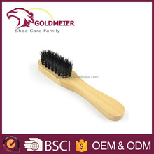 wood handle mini bristle brush black bristle brush pig hair shoe brush