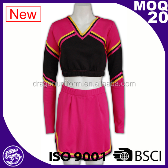 BSCI cheap custom sports wear hot school cheerleading uniforms