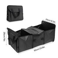 Premium Foldable Multi Compartment Fabric Car Truck cargo organizer