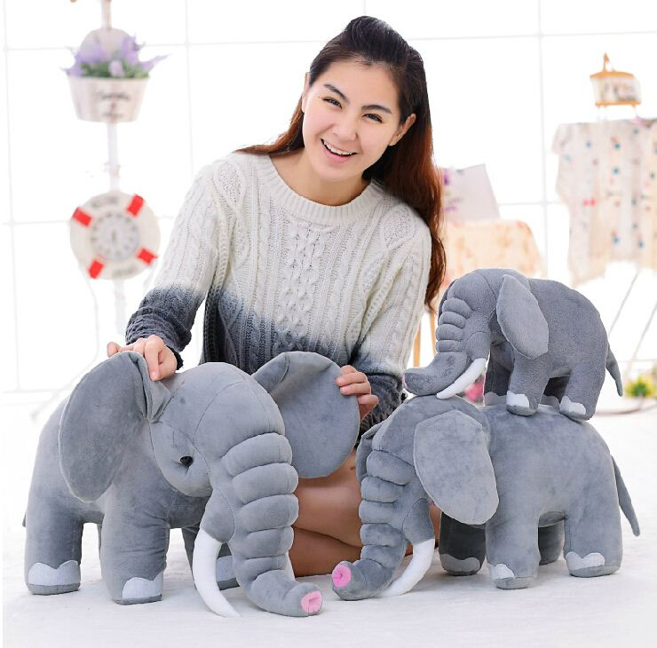 Online Get Cheap babies' Stuffed & Plush 40cm elephant toy for birthday Christmas gift stuffed soft toys elephant factory supply
