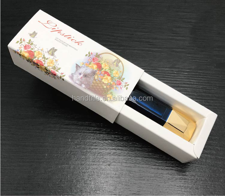 Private High Quality Cosmetics Lipstick Packaging Box/ Sliding Lipstick Box Packaging