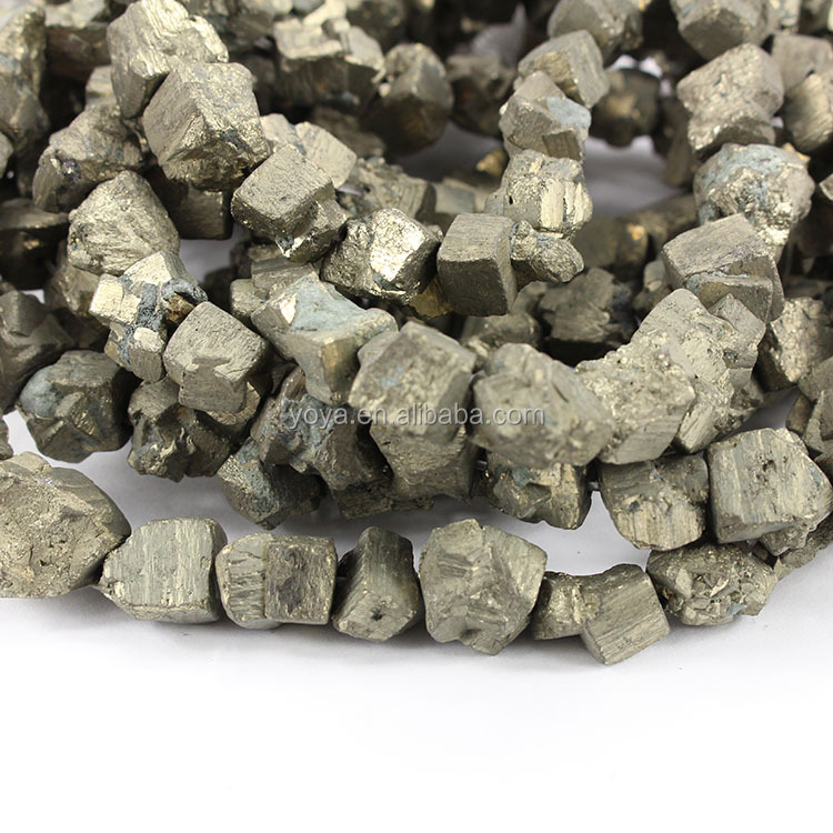 PB1128 Iron Pyrite Gemstone Rugged Nugget Cube Beads,Rough Pyrite Cube Beads