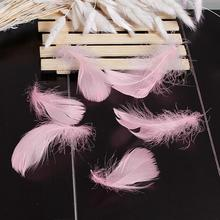 China Wholesale Pink Natural Decorative Dyed Goose Down Feather